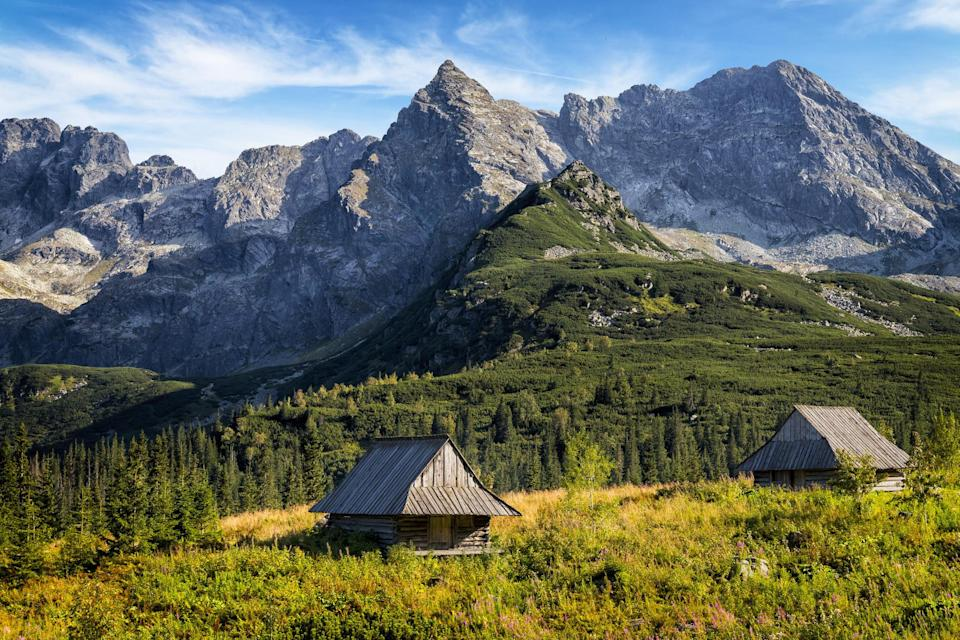 A valley in the Tatra Mountains in Poland.