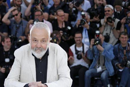 "Director Mike Leigh poses during a photocall for the film ""Mr. Turner"" in competition at the 67th Cannes Film Festival in Cannes"