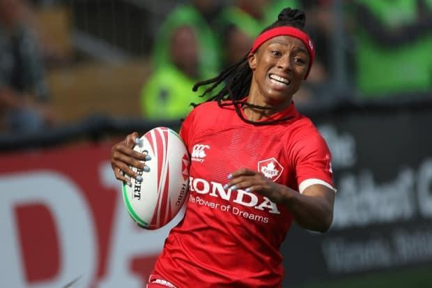 Canadian rugby sevens player Charity Williams was one of five members of the 'Change the Game: The Future of Women's Sports' panel hosted by CBC Sports on Wednesday. (Chad Hipolito/The Canadian Press - image credit)