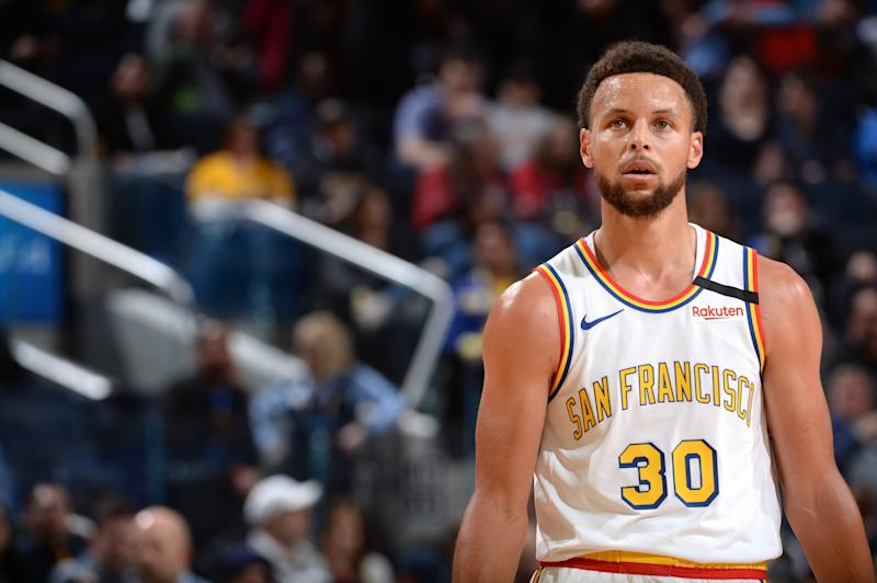 Stephen Curry of the Golden State Warriors during a game on March 5, 2020
