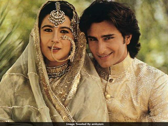 <p>It was a photoshoot that brought these two, a successful actress, and a struggling new comer, together and the young nawab was mesmerized by Amrita's beauty instantly. When they tied the knot, after a brief period of romance, Amrita was 11 years older than Saif Ali Khan. Their marriage survived for 13 years before falling apart. Saif has since found super stardom and love in Kareena Kapoor Khan. </p>