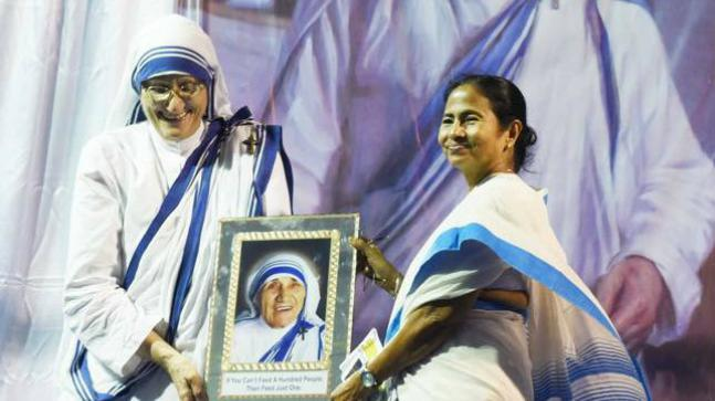 """In a tweet, Mamata Banerjee today wrote that """"malicious attempts"""" are being made to """"malign"""" the names of Missionaries of Charity Sisters."""