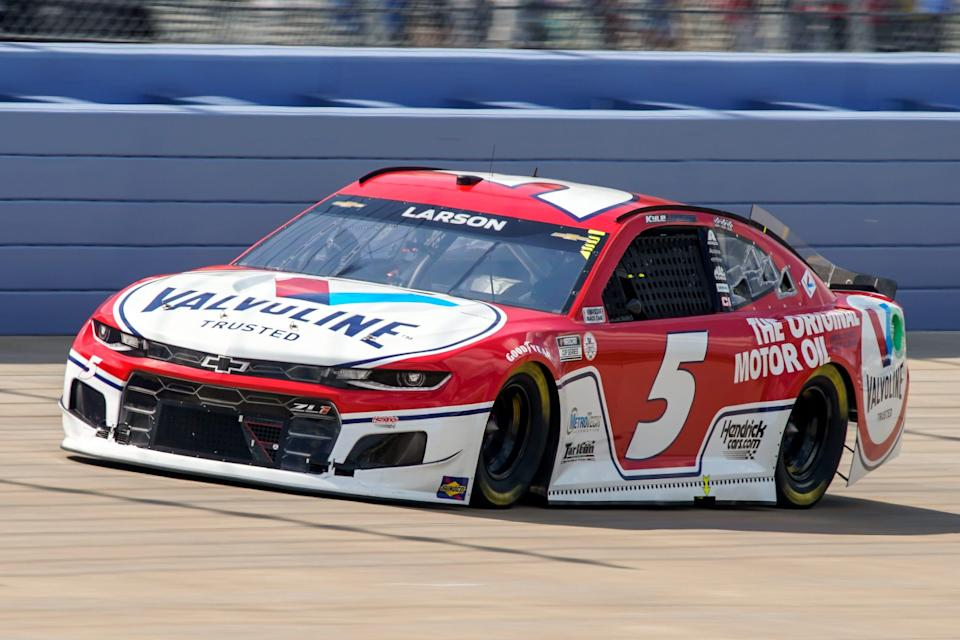 NASCAR Cup Series driver Kyle Larson races during the Ally 400 in Lebanon, Tennessee.
