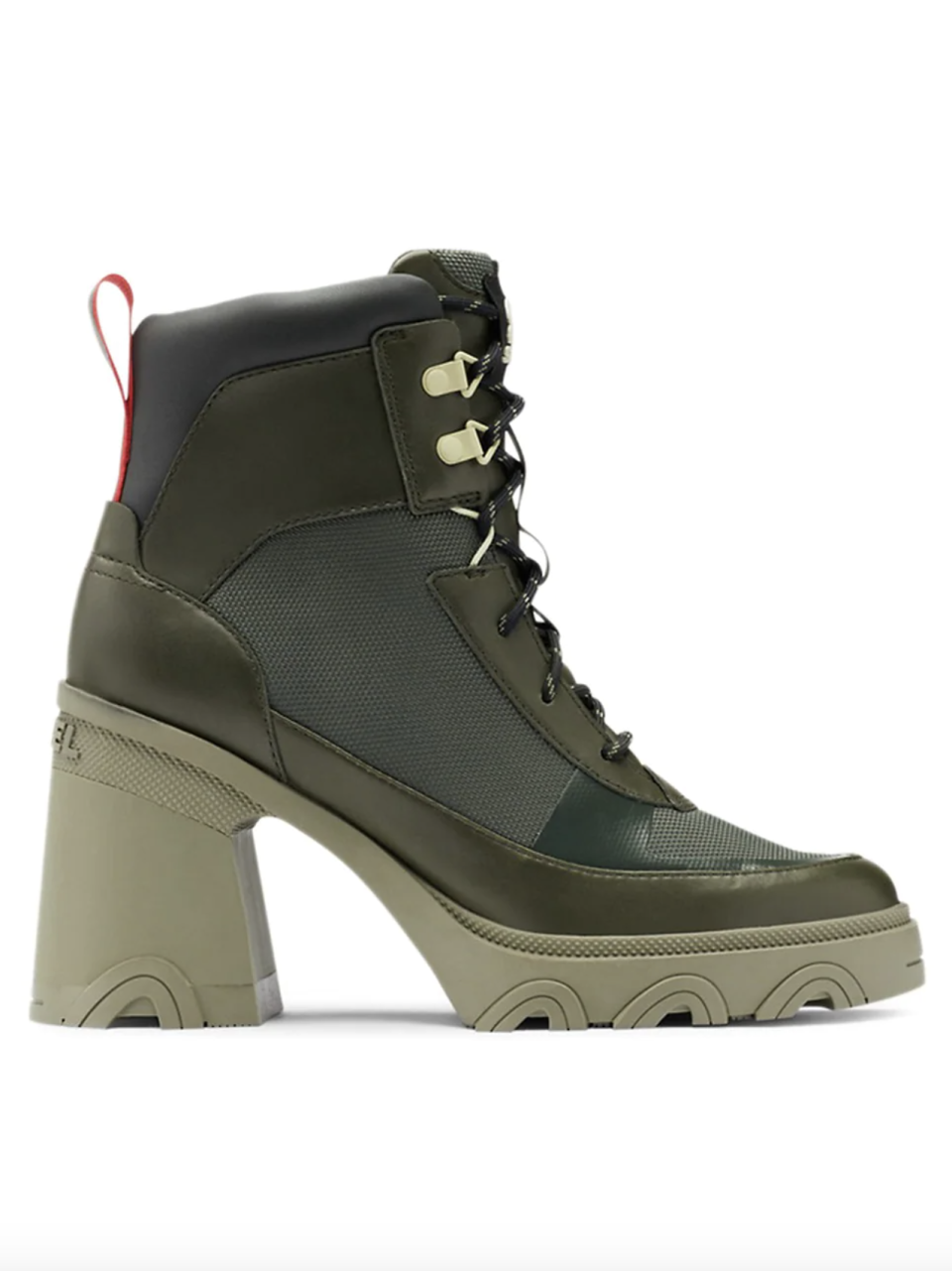 """<p><strong>Sorel</strong></p><p>saksfifthavenue.com</p><p><strong>$180.00</strong></p><p><a href=""""https://go.redirectingat.com?id=74968X1596630&url=https%3A%2F%2Fwww.saksfifthavenue.com%2Fproduct%2Fsorel-brex--8482--lace-up-boots-0400014652064.html&sref=https%3A%2F%2Fwww.harpersbazaar.com%2Ffashion%2Ftrends%2Fg37157481%2Fbest-cheap-boots%2F"""" rel=""""nofollow noopener"""" target=""""_blank"""" data-ylk=""""slk:Shop Now"""" class=""""link rapid-noclick-resp"""">Shop Now</a></p><p>Stomp into colder weather with this elevated take on the hiking boot.</p>"""