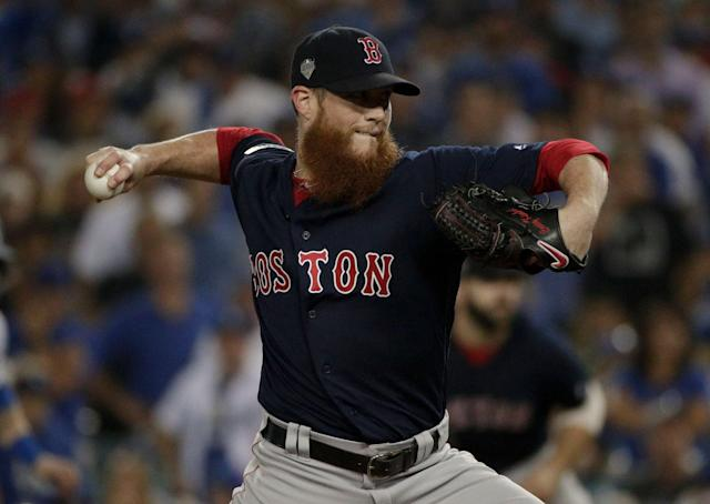 Free agent closer Craig Kimbrel is the answer to the Brewers' growing bullpen issues. (AP Photo)