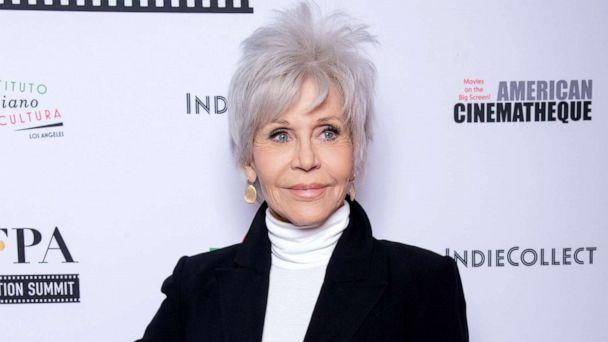PHOTO: Jane Fonda attends the American Cinematheque's new 4K restoration world premiere of 'F.T.A.' at the Egyptian Theatre, Feb. 15, 2020, in Hollywood, Calif. (Amanda Edwards/Getty Images, FILE)