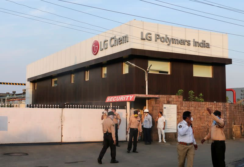 Gas leak at LG Polymers plant in India