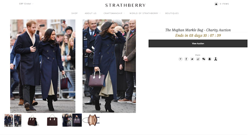 Fashion lovers get bidding - you only have a few days. Photo: www.strathberry.com
