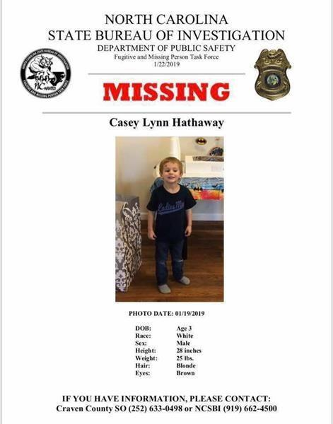 A desperate search was launched to try and relocate the missing 3-year-old. (Image: AP)