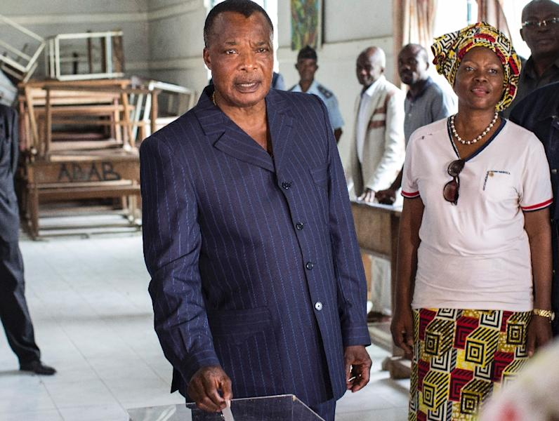 Congolese President Denis Sassou Nguesso was in power from 1979 to 1992 and returned in 1997 following a civil war (AFP Photo/Marco Longari)