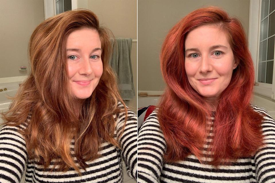 """<p>""""<a href=""""https://www.popsugar.com/beauty/kms-style-color-spray-on-hair-dye-review-47964951"""" class=""""link rapid-noclick-resp"""" rel=""""nofollow noopener"""" target=""""_blank"""" data-ylk=""""slk:I did spray-color my hair"""">I did spray-color my hair</a>! (RIP my shower floor.)"""" - Maggie Panos, senior editor, Voices</p>"""