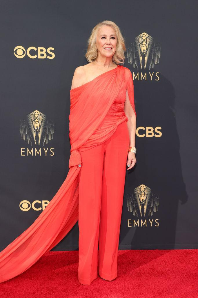 Catherine O'Hara attends the 73rd Primetime Emmy Awards In Los Angeles. (Photo by Rich Fury/Getty Images)