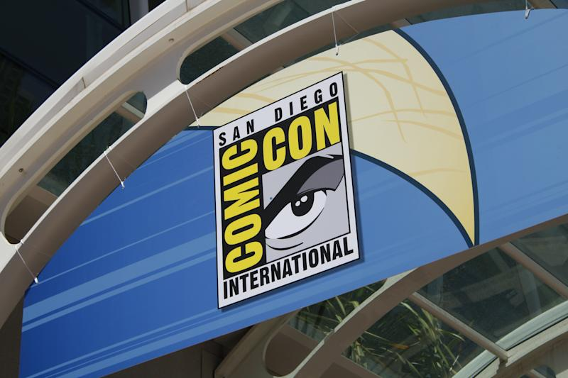 San Diego, CA, USA - July 15, 2012: A sign photographed from outside the annual San Diego Comic-Con International at the San Diego Convention Center on Sunday July 15th, 2012 in San Diego, California.