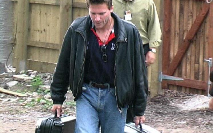 Nick Bateman leaving the Big Brother house in 2000 - PA