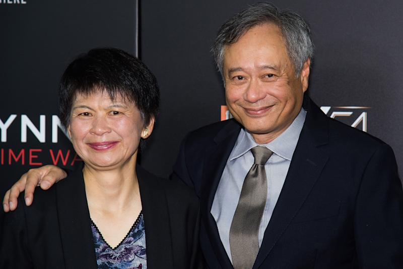 """Jane Lin and Ang Lee attend the world premiere of """"Billy Lynn's Long Halftime Walk"""", during the 54th New York Film Festival, at AMC Loews Lincoln Square on Friday, Oct. 14, 2016, in New York. (Photo by Charles Sykes/Invision/AP)"""