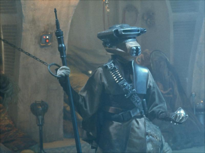 Princess Leia, disguised as bounty hunter Boussh in Star Wars: Episode IV - Return of the Jedi, brandishes a Thermal Detonator. (20th Century Fox/Lucasfilm)
