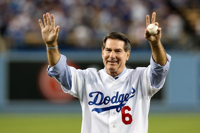 Here's Steve Garvey, now a Dodgers broadcaster, earlier this year. (AP)