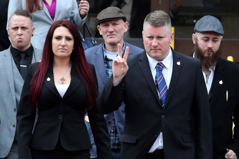Britain First leaders Paul Golding and Jayda Fransen were jailed for hate crimes (PA)
