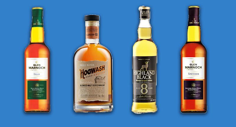 Four of Aldi's whiskies were given gold awards. [Photo: Aldi]