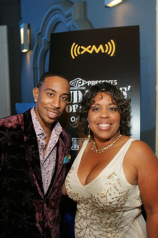 <p>Ludacris and his mother at his 30th birthday party hosted by XM Radio at the Rio Hotel in Las Vegas on September 7, 2007. </p>