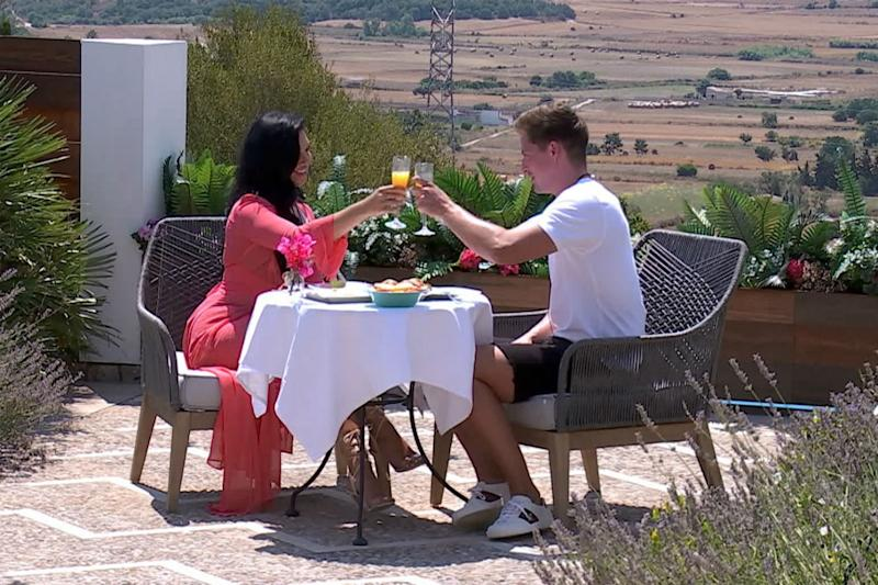Date: Alexandra Cane got to know Dr Alex George on their first date: ITV