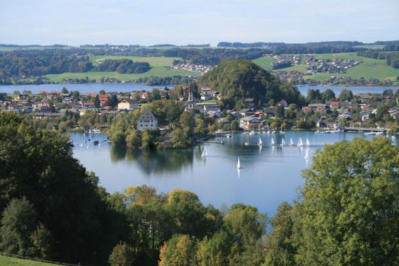 The Mattsee, Obertrumersee and Grabensee are neighbouring lakes (Salzburgerseenland)