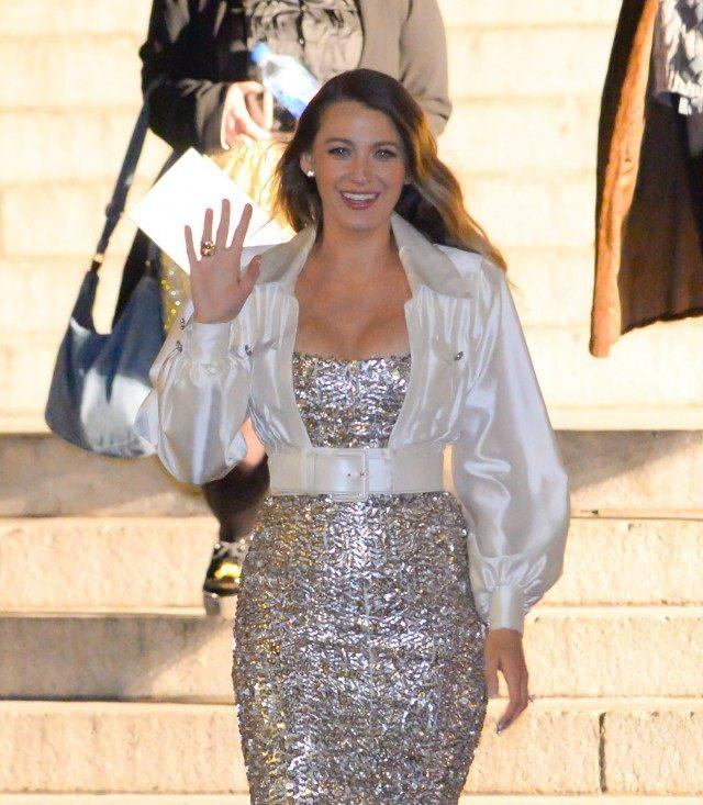 Blake Lively outside Chanel pre-fall show