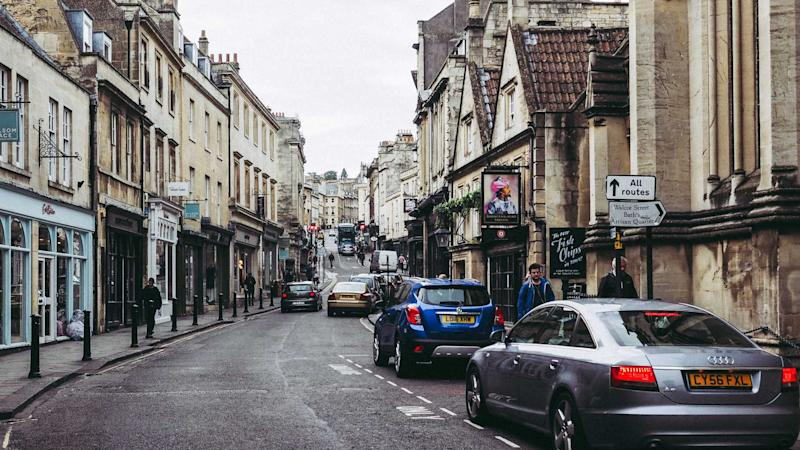 Tourists visiting the city of Bath UK