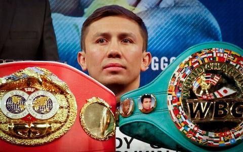 <span>GGG puts his WBA and IBF world middleweight belts on the line against Canelo</span> <span>Credit: AP </span>