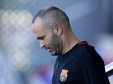 Iniesta, 33, also hinted he could finally be lured from a rarely-seen 'contract for life' with the Spanish league giants, signed last year, to cap his sparkling club career with a stint in China's Super League.