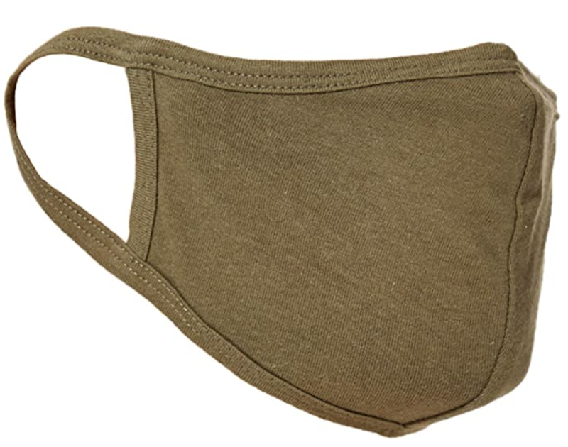 This olive mask features a double layer of lightweight jersey for breathability. (Photo: Amazon)