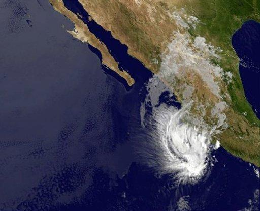 Storm Bud was packing maximum sustained winds of 35 miles (55 kilometers) per hour