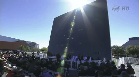 The memorial service on the tenth anniversary of the Columbia tragedy took place at the Space Mirror Memorial, NASA's Kennedy Space Center, FLA.