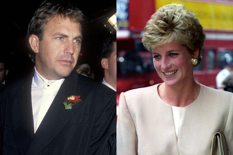 Kevin Costner and Princess Diana (Credit: Getty/Reuters)