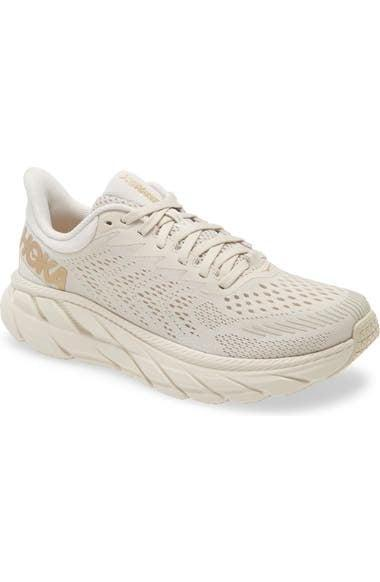 <p>Customers rave about the <span>HOKA ONE ONE Clifton 7 Running Shoe</span> ($130). The brand's signature thick sole is especially great for running outdoors or on trails.</p>
