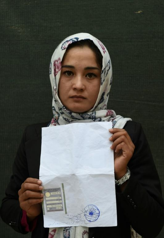 Kabul university student Zahra Faramarz, 21, believes she has a 'duty and responsibility' to vote on Saturday