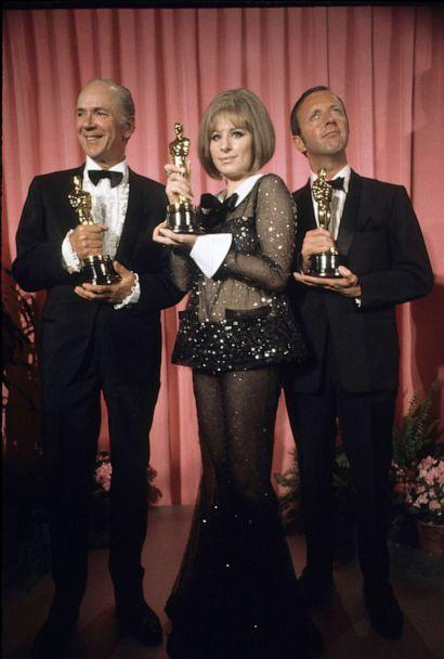 PHOTO: In this April 14, 1969, file photo, Jack Albertson, Barbra Streisand and Anthony Harvey pose with their Oscars at the 41st Academy Awards. (ABC Photo Archives/Walt Disney Television via Getty Images, FILE)