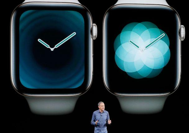 PHOTO: Jeff Williams, Apple's chief operating officer, speaks about the Apple Watch Series 4 at the Steve Jobs Theater during an event to announce new Apple products Wednesday, Sept. 12, 2018, in Cupertino, Calif. (Marcio Jose Sanchez/AP)
