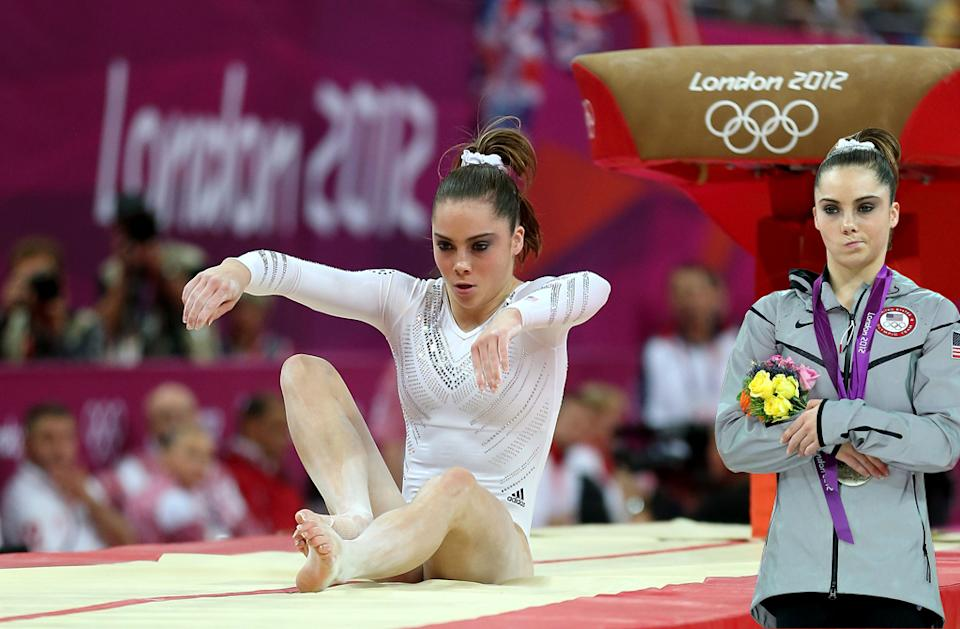 McKayla Maroney is not impressed with McKayla Maroney's vaulting skills.