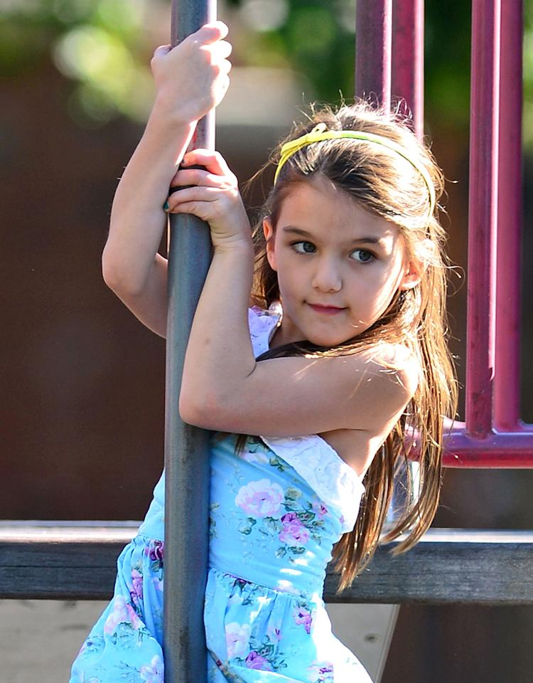 NEW YORK, NY - SEPTEMBER 23:  Suri Cruise visits McCarren Park in Brooklyn on September 23, 2012 in New York City.  (Photo by James Devaney/WireImage)