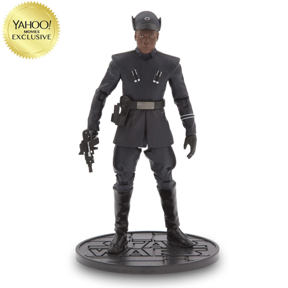 <p>In the grand <em>Star Wars</em> tradition, the reformed Stormtrooper goes in disguise as a First Order officer. Available Oct. 31/$26.95/DisneyStore.com (Photo: Disney Store) </p>