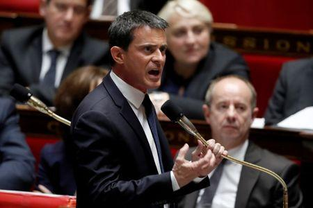 French Prime Minister Manuel Valls speaks during the questions to the government session at the National Assembly in Paris