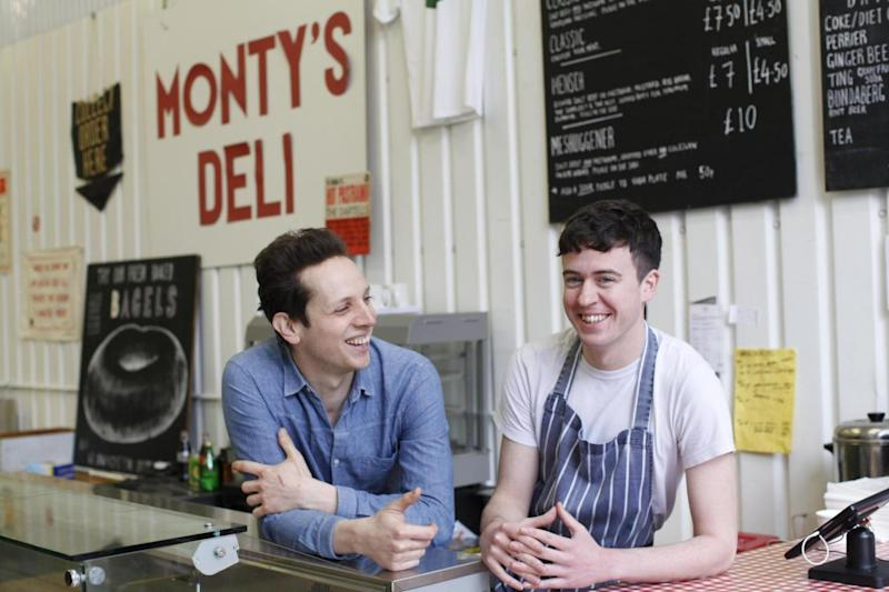 Stand-out sandwiches: Mark Ogus (left) and Owen Barratt (right) at Monty's Deli