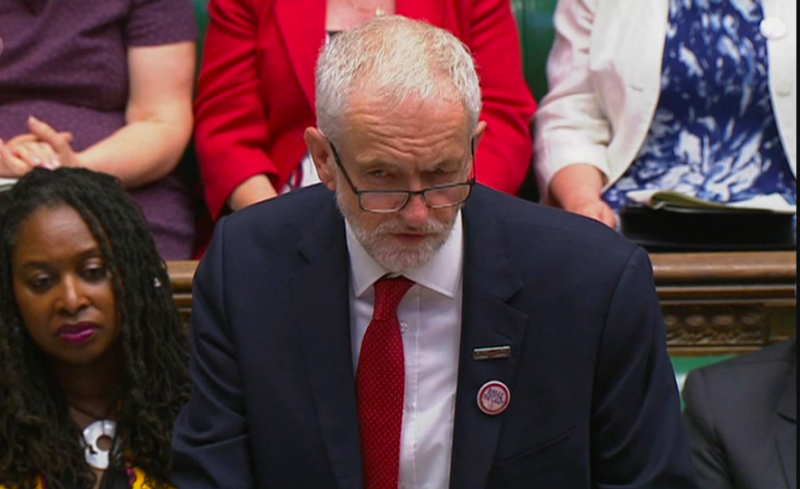 Corbyn and May clashed today in PMQS for the final time. (GETTY)