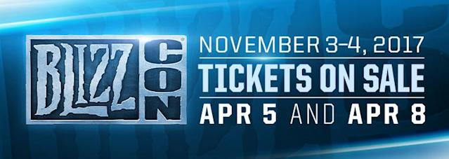 BlizzCon 2017 will run November 3-4. (Blizzard)