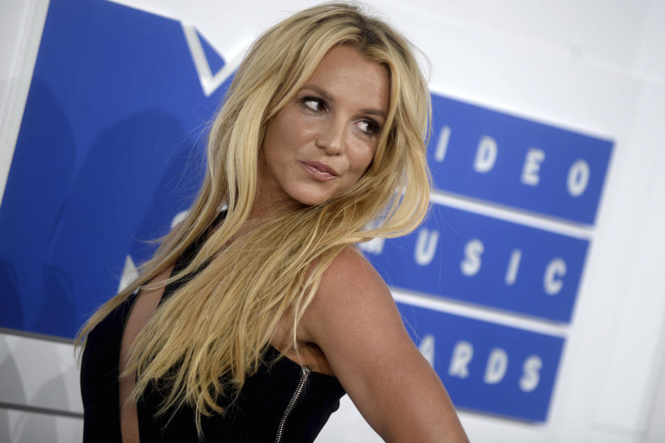 Photo by: Dennis Van Tine/STAR MAX/IPx 2019 8/19/21 Britney Spears under investigation for allegedly striking employee during 'dispute' at home. STAR MAX File Photo: 8/28/16 Britney Spears at The 2016 MTV Video Music Awards. (Madison Square Garden, NYC)