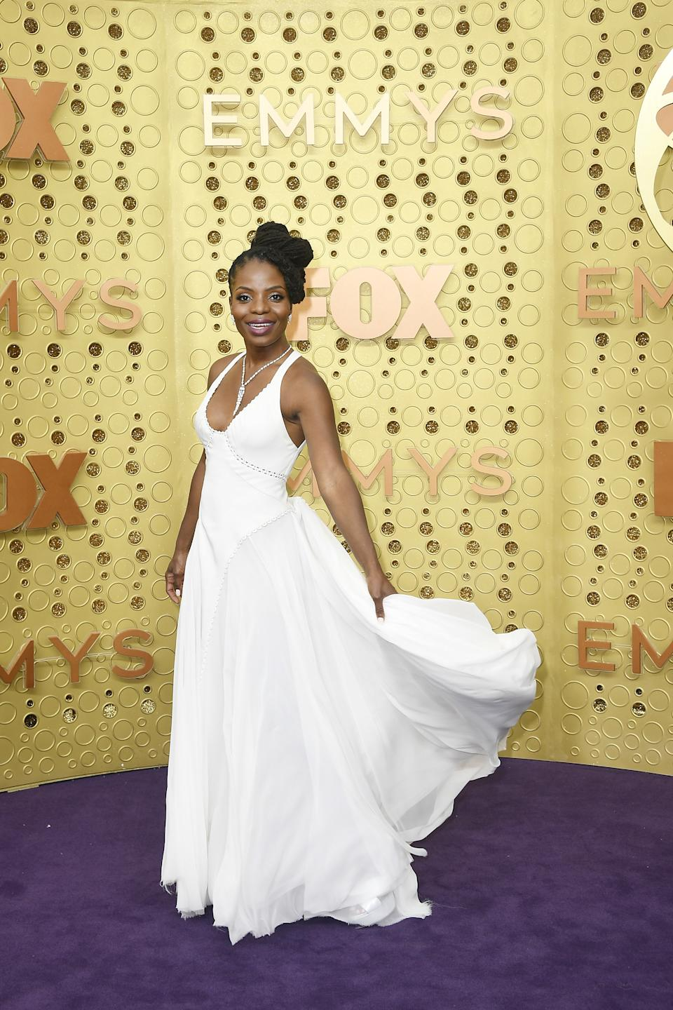 """<h1 class=""""title"""">Marsha Stephanie Blake in Zac Posen</h1><cite class=""""credit"""">Photo: Getty Images</cite>"""