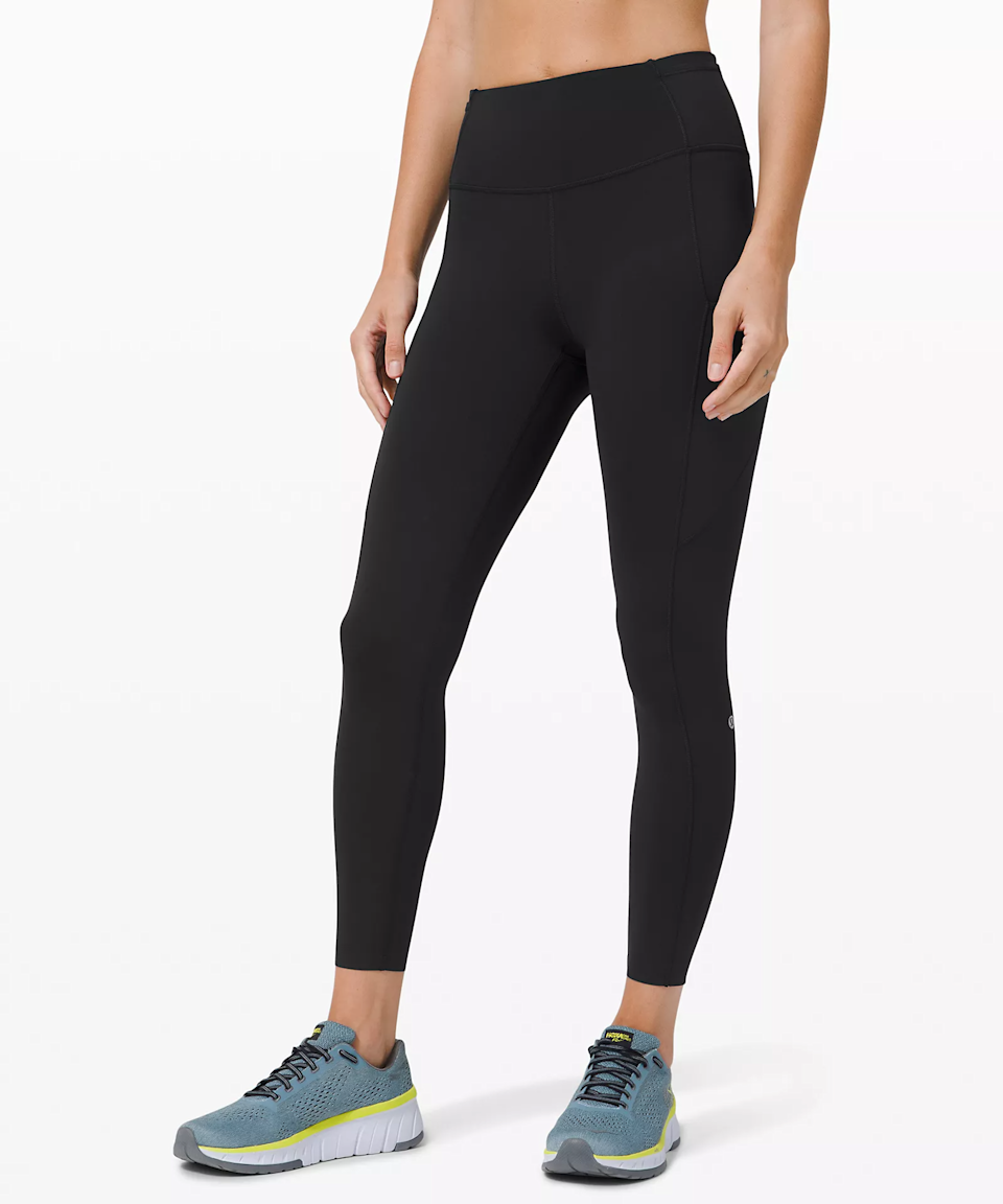 """<strong><h3>Lululemon: The Popular Legging</h3></strong><br>Lululemon can take a good chunk of credit for kickstarting the athleisure trend. While not the most popular leggings from the brand, this pair has seen the most consistent positive reviews.<br><br><strong>The hype:</strong> 4 out of 5 stars on Lululemon<br><br><strong>What they're saying:</strong> """"The Fast and Free tights are hands down my favorite and best tights Lululemon has to offer. The tights have a moderate compression around the waistband and has an adjustable waist string to tighten during your runs. They are lightweight and feel like a second skin. I wear these tights for yoga, strength and conditioning, everyday wear, and for running. The side pocket is a great feature, especially when running to hold your phone. I am 5'2 and the length of the tights fit me perfectly so I don't have to get them hemmed. My only complaint about these tights is that darker colors will fade slightly and the light sheen will fade, but other than that I would recommend these tights to everyone."""" - Shavasanaallday, Lululemon Review<br><br><strong>lululemon</strong> Fast and Free Tight 25"""", $, available at <a href=""""https://go.skimresources.com/?id=30283X879131&url=https%3A%2F%2Fshop.lululemon.com%2Fp%2Fwomen-pants%2FFast-And-Free-Tight-II-NR%2F_%2Fprod8960003"""" rel=""""nofollow noopener"""" target=""""_blank"""" data-ylk=""""slk:lululemon"""" class=""""link rapid-noclick-resp"""">lululemon</a>"""