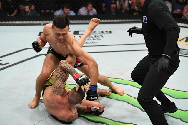 Chan Sung Jung's fight on Saturday was a lot shorter than his last one. (Getty Images)