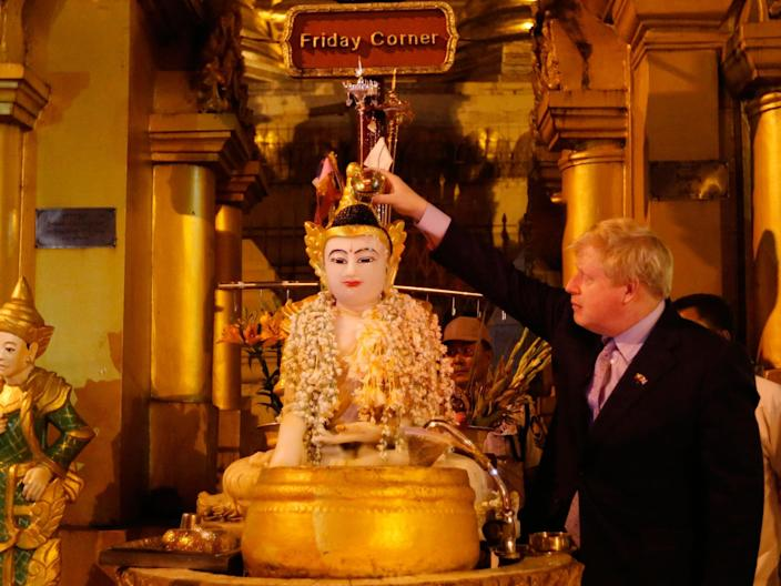 'Stunning' gaffe: Appalled ambassador stops Boris Johnson reciting colonial poem in Burma's holiest site